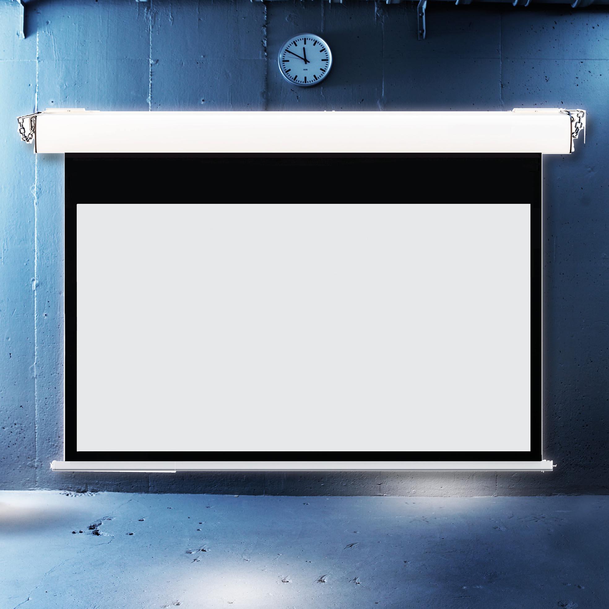 Elektrisk filmduk för aulor, skolor och kontor, i cool miljö, från Kingpin Screens