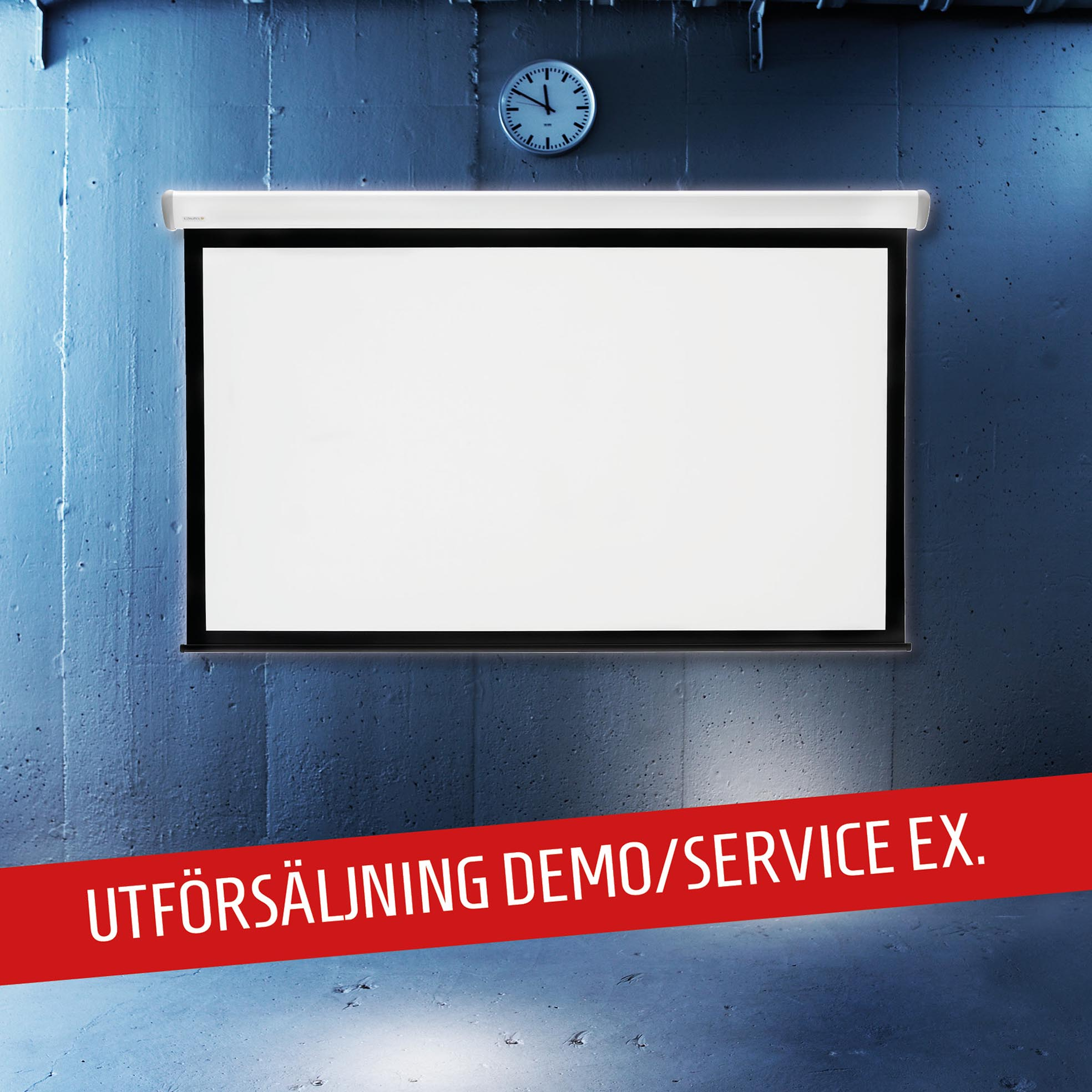 Elektrisk filmduk för hemmabio och kontor från Kingpin Screens