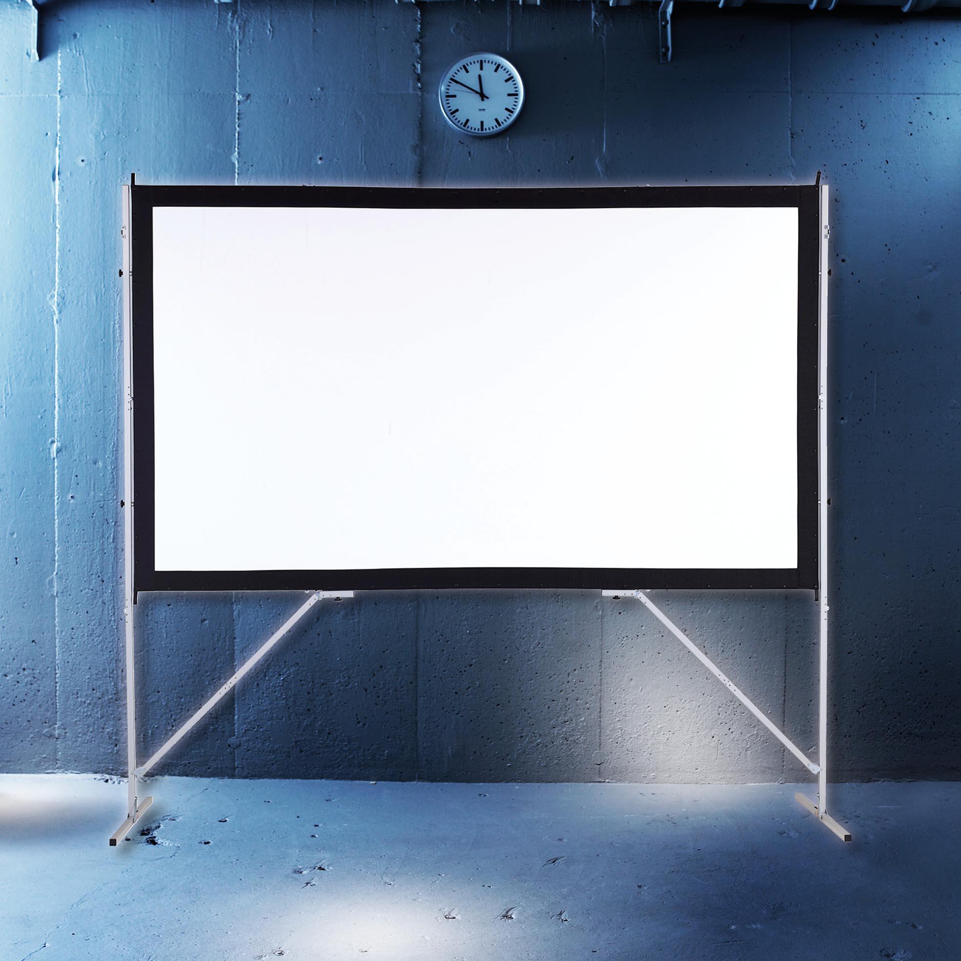 Golvstående filmduk för konferens från Kingpin Screens