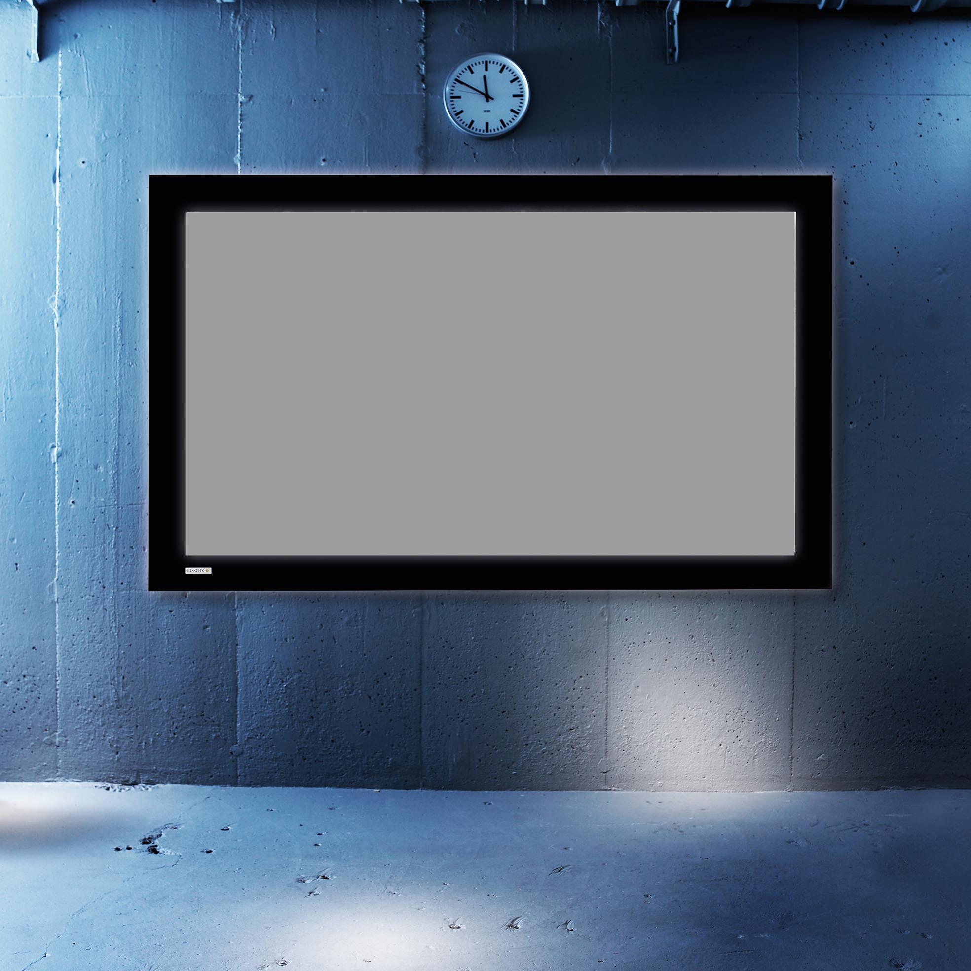 Ramspänd filmduk för Short Throw projektorer, i cool miljö, från Kingpin Screens