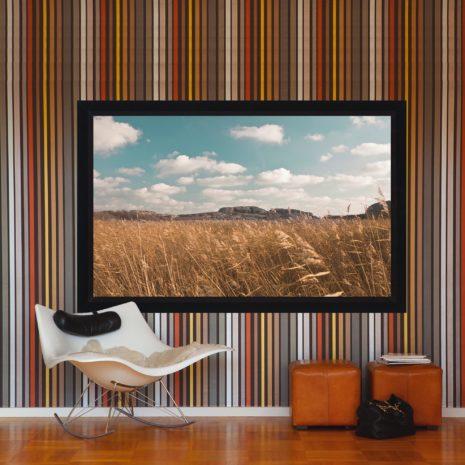 Ramspänd filmduk för Short Throw projektorer, härlig miljöbild, från Kingpin Screens